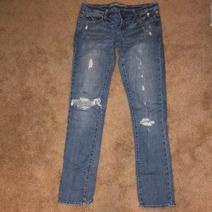 American Eagle distressed denim